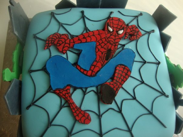 Spiderman  cake1 (B075)